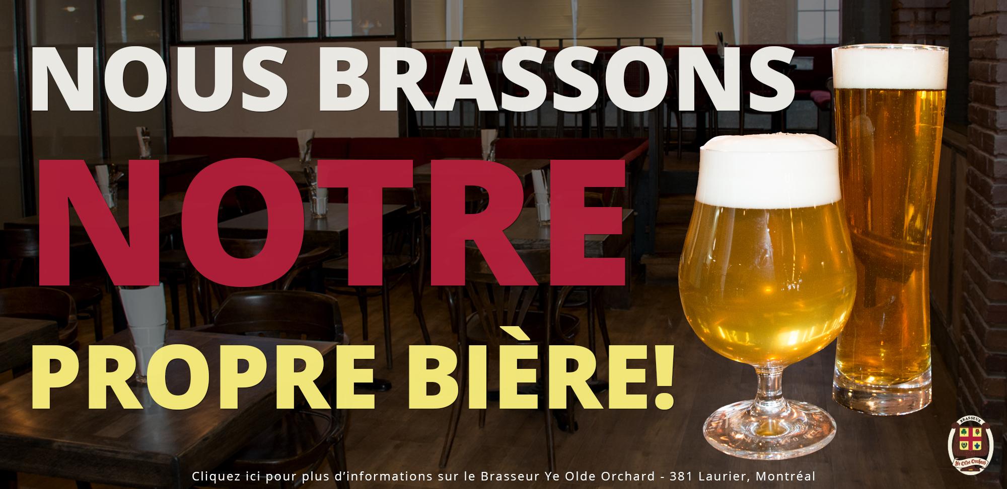 Brasseur Ye Olde Orchard Bière Montréal