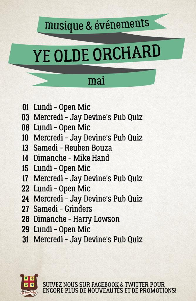 Ye Olde Orchard Pub Plateau Prince Arthur Musique Live Music Events Pub Quiz Open Mic