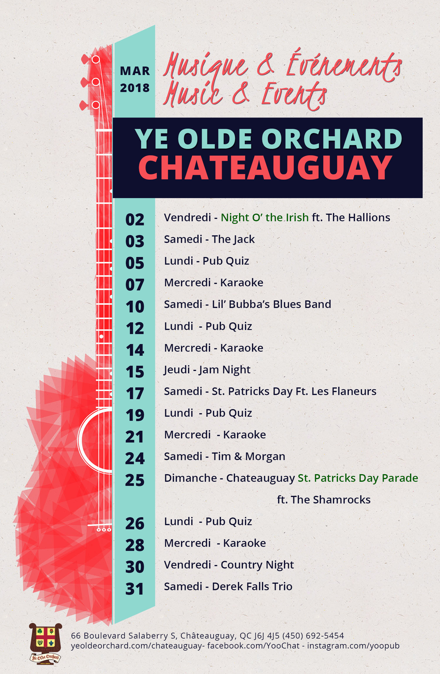 ye-olde-orchard-pub-music-and-events-calendar-Chateauguay-WEB-MARCH