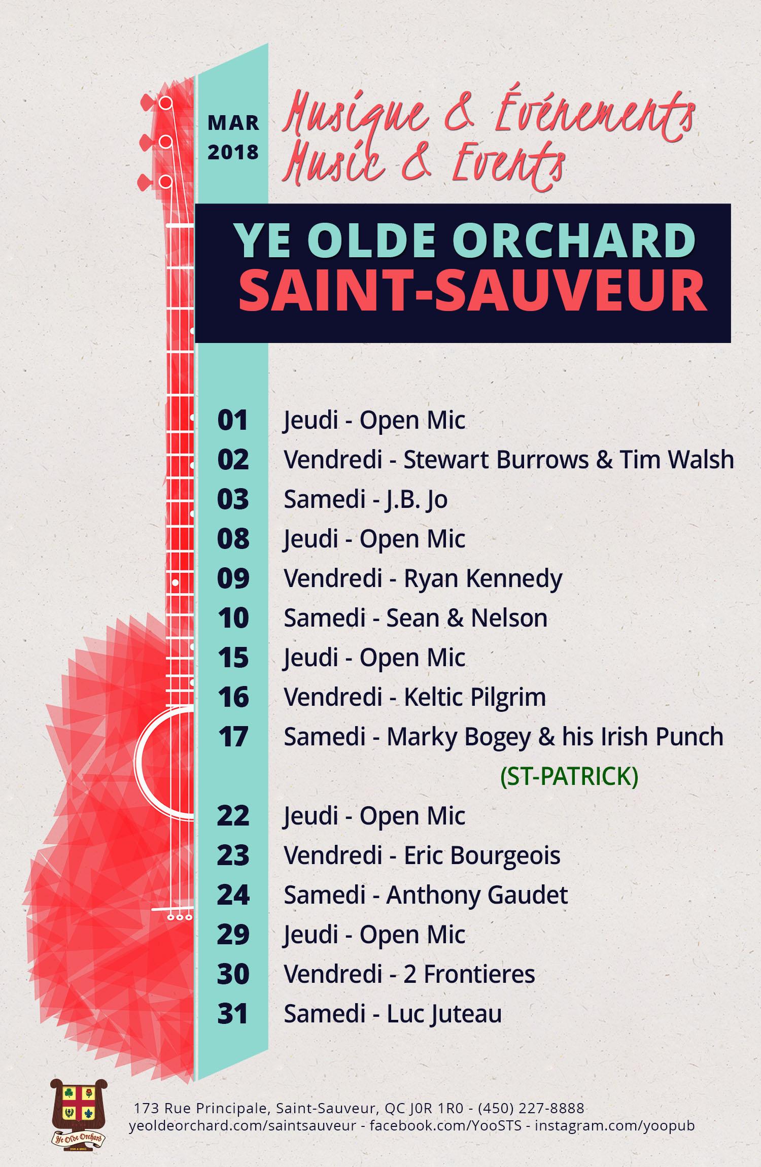 ye-olde-orchard-pub-music-and-events-calendar-SaintSauveur-MARCH -WEB