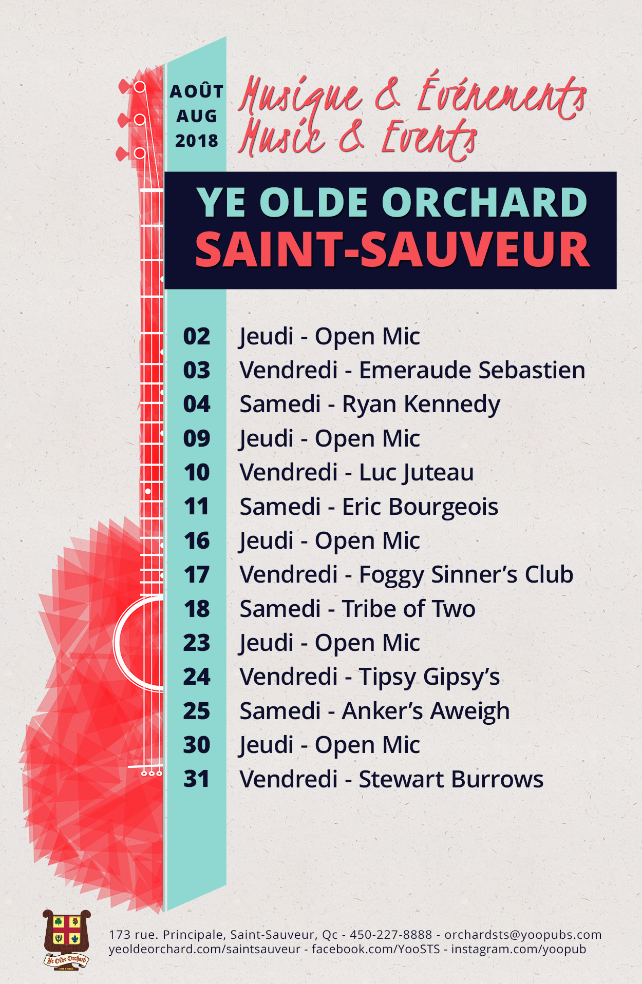 ye-olde-orchard-pub-music-and-events-calendar-2-saint-sauveur-august-2018-WEB