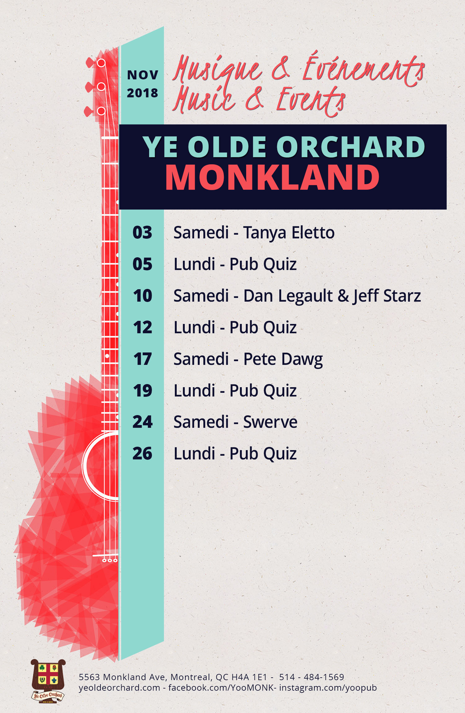 ye-olde-orchard-pub-music-and-events-calendar-Monkland-NOV